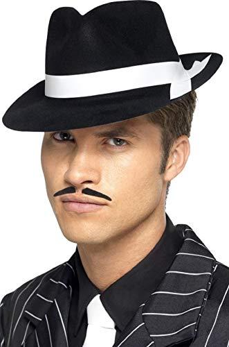 pour Hommes Femmes Gangster Al Capone Bugsy Malone Noir/Blanc Feutre Chapeau Déguisement