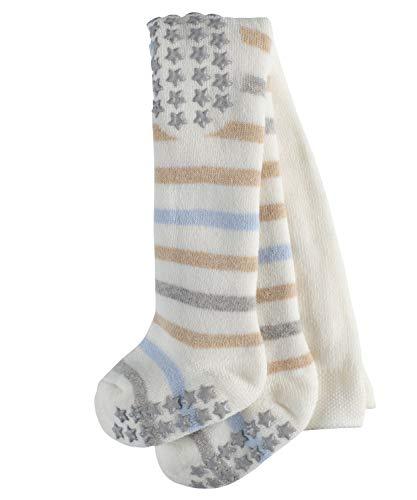 FALKE Baby Strumpfhosen Multi Stripe, 84% Baumwolle, Vollplüsch-Strumpfhose aus besonders hautfreundlicher und pflegeleichter Baumwolle, 1 Stück, Weiß (Off-White 2040), Größe: 80-92
