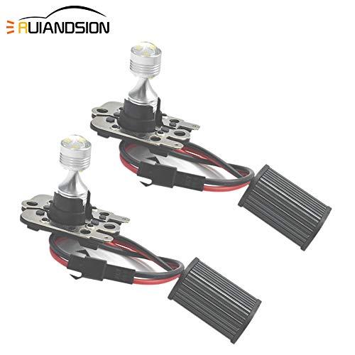 Ruiandsion - 2 bombillas LED PH16W de alta potencia, súper brillantes, 30 W, 12 V-24 V, CREE 6SMD, 6000 K, color blanco, sin errores, Canbus LED, luz de marcha atrás