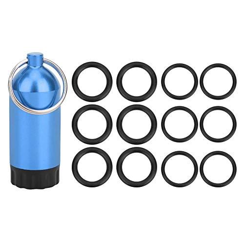 Keenso Mini Junta tórica del Cilindro del Tanque, Anillo de Sellado de la válvula del Cilindro de inmersión Juntas tóricas Botella de Almacenamiento del Mini Cilindro OR-MT02(Azul)