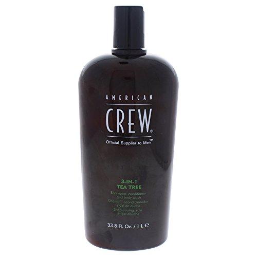 American Crew American Crew 3-In-1 Shampoo Conditioner & Bodywash Tappo per orecchie 4 centimeters Nero (Black)