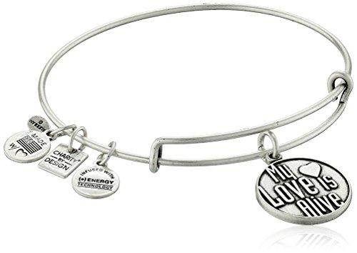 Alex and Ani My Love is Alive Rafaelian Silver Bangle Bracelet