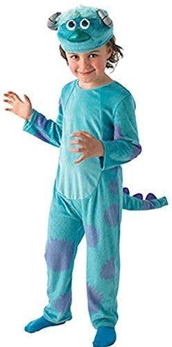 Fancy Me Disney Jungen Monsters Ag University Deluxe Sulley Blau Monster Halloween Büchertag Woche Kostüm Kleid Outfit 3-8 Jahre - Blau, 7-8 Years