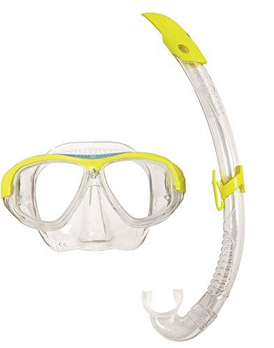 Aqua Sphere Combo Coral LX, Unisex, für Erwachsene, Masken- und Schnorchel-Set Einheitsgröße gelb