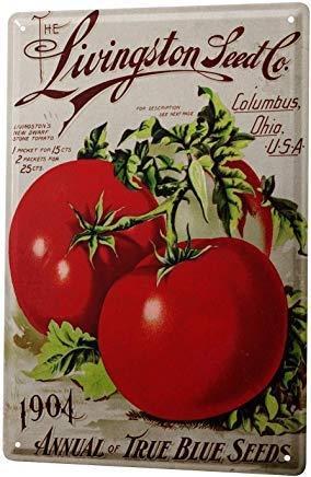 Froy Letrero de Pared con diseño Tomates Livingston, de Hierro Retro, para decoración de cafeterías, Bares, garajes, Casas