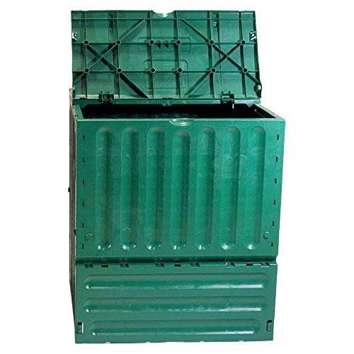 Great Features Of Kitchen Compost Bin Recycled Plastic 400 Liters Two Large Top Flaps Composting Out...