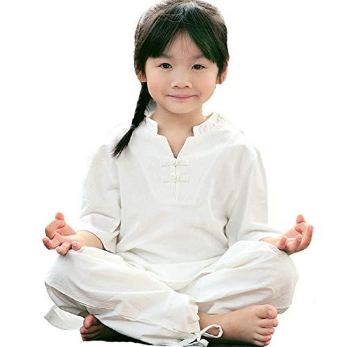PIVFEDQX Ropa de Tai Chi para nios - Unisex, nios, Adultos, Artes Marciales, Traje de actuacin, Uniforme de Kung Fu, Rosa-L