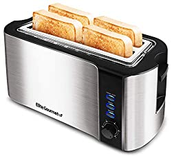 in budget affordable Elite Gourmet ECT-3100 Maxi-Matic, 4-slice length toaster, very wide 1.5 inch pan slot, …