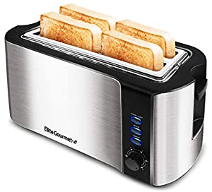 "EXTRA WIDE 1.5"" TOASTING SLOTS to fit extra thick slices of bread products such as Texas Toast, bagels and specialty breads. 6 ADJUSTABLE TOASTING LEVELS to select the perfect browning shade for your bread. From slightly warm to dark and crunchy. REH..."