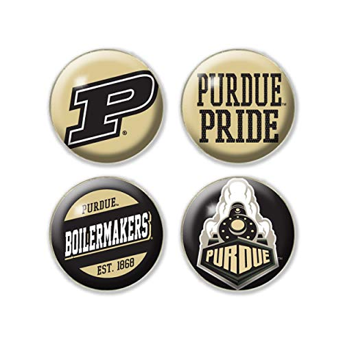 NCAA Legacy Purdue Boilermakers Fridge Magnet Pack, One Size, Custom