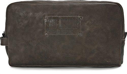 15 INCH BY JEROME WESTFORD, Trousse de toilette Unisexe en cuir toile, sacs à cosmétiques, 30 x 16,5 x 8,5 cm (l x H x P), couleur: brun foncé