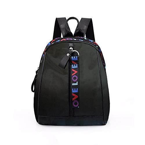 Fashion Women Ladies Backpacks and Rucksacks Handbags Casual Rucksack PU Leather Rucksack Nylon School Bags Waterproof Anti-Theft Daypack Travel School Vintage Shoulder Bag Purse Large Capacity Black