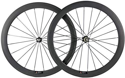Bike Carbon Wheel 20,5 mm Breite Drahtreifenradsatz mit Novatec-Nabe für Rennräder