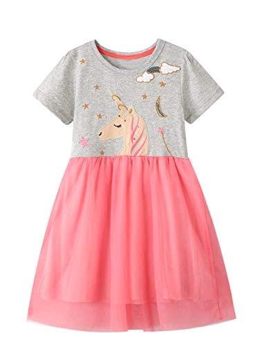 Disfraz de unicornio de tul para niñas de flores, cosplay, fiesta de princesa, vestido de cumpleaños