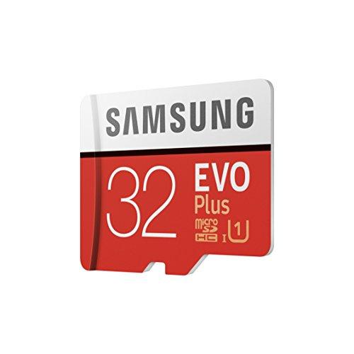 Samsung MB-MC32GA/EU EVO Plus 32 GB microSDHC UHS-I U1 Speicherkarte inkl. SD-Adapter Rot/Weiß