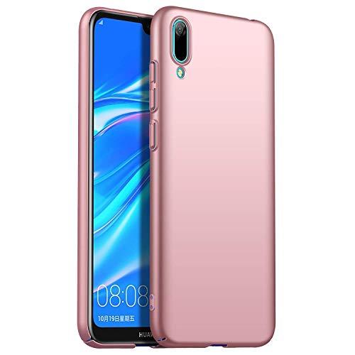 RFLY Funda para Huawei Y6 2019, Ultra Delgada Mate Case Protectora Resistente A Prueba De Golpes, Dura y Rígida Cover Case para Huawei Y6 2019, Oro Rosa
