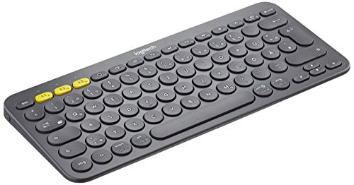 Logitech K380 Kabellose Bluetooth-Tastatur, Multi-Device & Easy-Switch Feature, Windows- und Apple-Shortcuts, PC/Mac/Tablet/Handy/Apple iOS+TV, Deutsches QWERTZ-Layout - schwarz