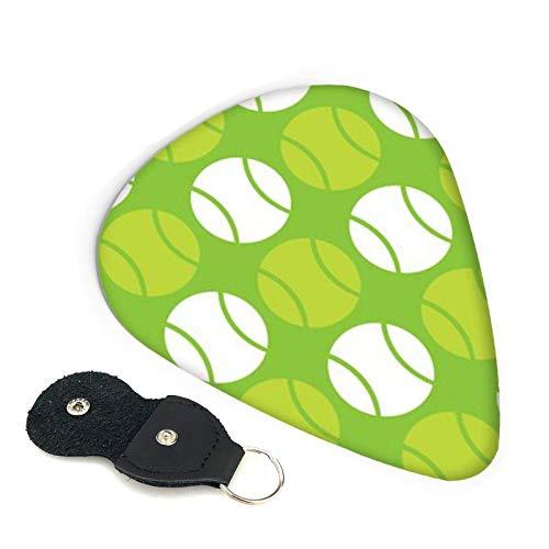 6 púas de guitarra, pelotas de tenis verdes, púa de guitarra, incluye medio fino y pesado para su bajo eléctrico, acústico o bajo
