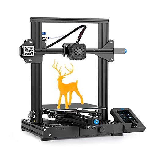 3D Printer Ender 3 V2 - Creality Ender 3 V2 Upgrade 3D Printers with Meanwell Power Supply, Birthday Gifts Ender 3 Pro Upgrades with Glass Bed, Silent Motherboard and Resume Printing Function