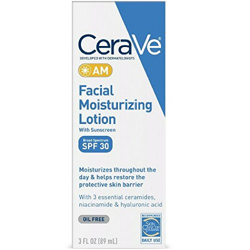 CeraVe Moisturizing Facial Lotion AM, 3 Ounce (Pack of 3) by CeraVe