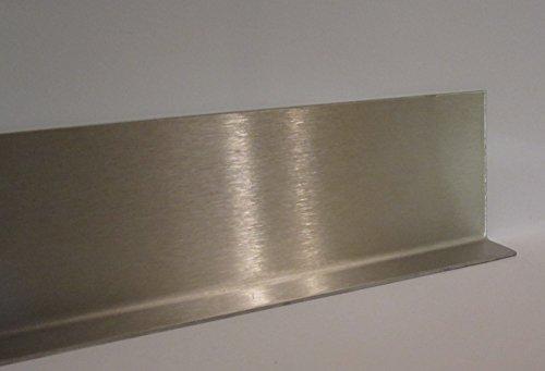 Sockelleiste Sockelblech Fußleiste Fußblech Edelstahl 6 x 2 cm, L = 1,70 m