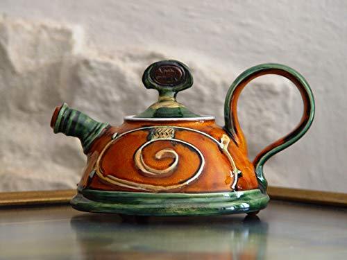 Ceramic Serving Teapot, Small Pottery Tea Pot. Kitchen Decoration, Home Decor, Handmade Pottery, Ceramic art, Unique Pottery Teapot, Danko