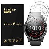 ivoler 6 Unidades Protector de Pantalla para Garmin Vivoactive 4 45mm Smartwatch, [Cobertura Completa] [líquida Instalar] [No Burbujas] HD Transparente TPU Suave láminas Protectora