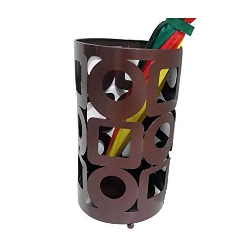 XCZZYC Soportes de Paraguas Vestíbulo de Hotel Creativo Uso en el hogar Arte de Hierro Simple Paraguas Cubo de Almacenamiento Cubo Tipo de Piso Vestíbulo de Hotel Creativo Uso en el hogar Arte de h