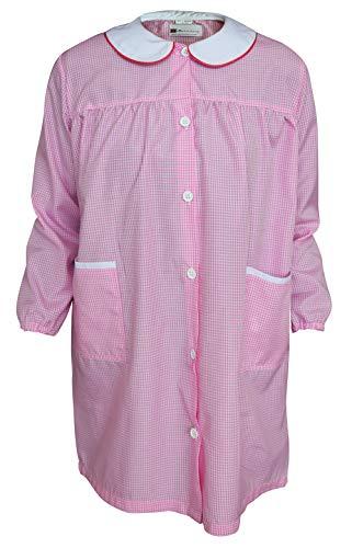 C.B.F. - Produzione professionale abbigliamento da lavoro Grembiule Camice Bambina Rosa Asilo Scuola Elementare (7/8 Anni)