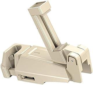 HUIJUNWENTI Asiento Trasero del Coche Gancho de Colgar almacenaje del Montaje de Soporte for teléfono móvil Pulgadas Soporte for teléfono 4,0-6,5 Universal 360 Rotación Auto del Coche (Size : Khaki)