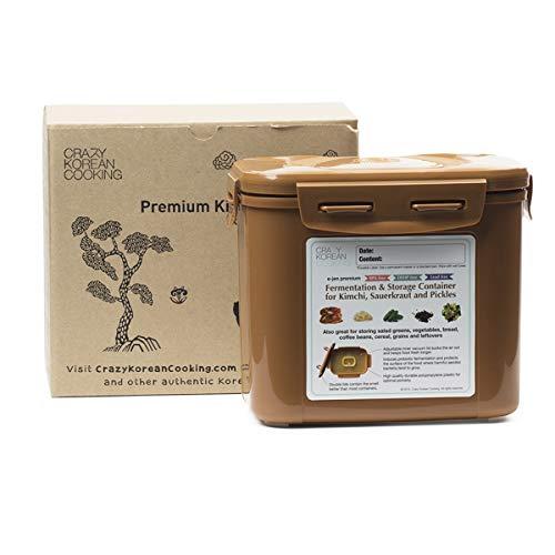 Crazy coreano cocina Premium Kimchi, Chucrut fermentación y contenedor de almacenamiento con interior vacío tapa