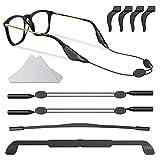 Qujior Eyeglasses Retainers, Adjustable Eyeglasses Straps Silicone Anti-Slip Eyewear String Holder Ear Grip Hooks, Sports Sunglasses Keeper for Men Women Kids