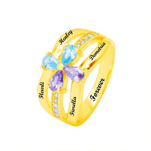 Anillo de plata 925 personalizado anillo de la madre simulación piedr