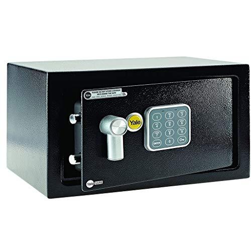 ZBM - ZBM Key veilig, Yale YLB / 170 / EB1 Premium Laptop Safe Verzekering Goedgekeurd, 22 mm gemotoriseerde borgbouten, LCD-scherm, 8 liter capaciteit vuurvaste Safes Smart Home-mini zwart B