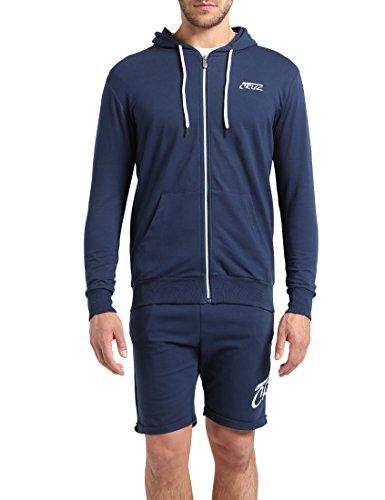 Ultrasport Cruz Herren Kapuzen Sweatjacke Timmo, Navy, XL