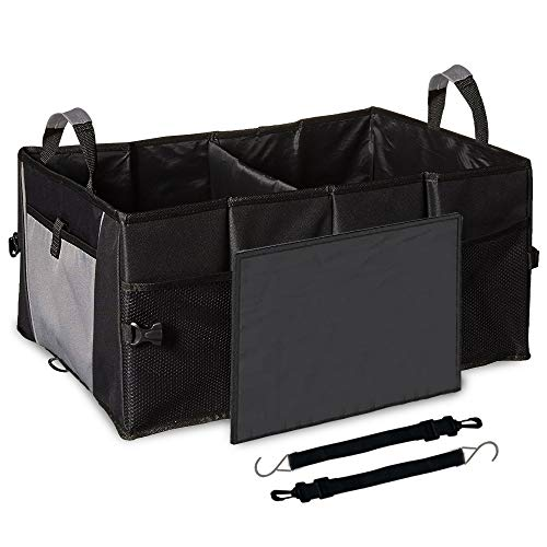 EcoNour Car Trunk Storage Organizer| Collapsible Grocery Storage Container Bin with Pockets| Easily Expandable Folding Compartments Suit for Any vehicles| Portable Cargo Carrier for Car Truck SUV Van