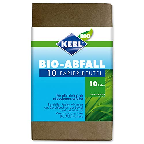 KERL 10 bolsas de basura orgánicas de papel 10 L