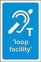 ループ設備 メタルポスタレトロなポスタ安全標識壁パネル ティンサイン注意看板壁掛けプレート警告サイン絵図ショップ食料品ショッピングモールパーキングバークラブカフェレストラントイレ公共の場ギフト