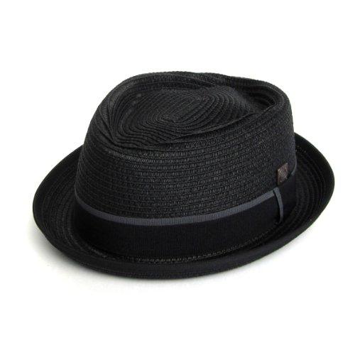 DASMARCA-Collection été-Chapeau de Paille Porkpie Noir-Durban-M