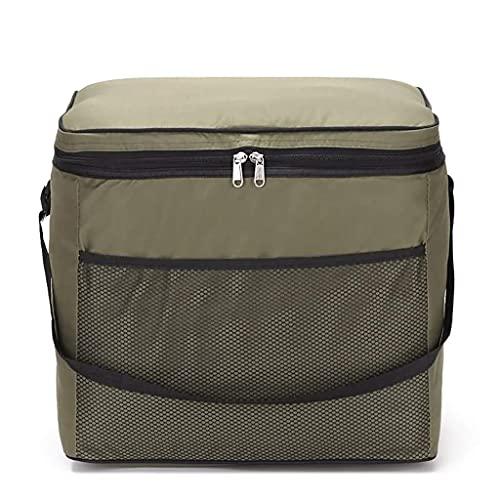 Enfriador de picnic a prueba de fugas, con aislamiento plegable, portátil, para oficina, trabajo, escuela, picnic, viajes, playa, recreación al aire libre (color: verde) ZJ666 (color: verde)
