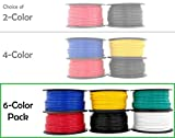 12 Gauge Copper Clad Aluminum Low Voltage Primary Wire 6 Color Combo 100 ft per...