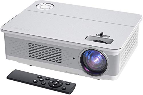 Projector, COOAU 8000 Lumens Native 1080P Movie Projector, Support 300'...