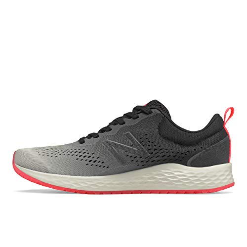 New Balance Women's Fresh Foam Arishi V3 Running Shoe, Black/Grey/Coral, 10.5 Wide