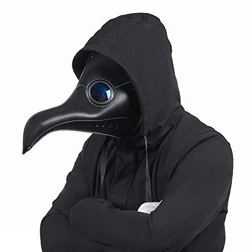 Raxwalker Plague Bird Beak Doctor Mask Steampunk Halloween Costume Props Black