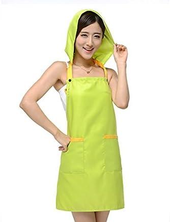 eDealMax café del restaurante que cocina el delantal de bolsillo vestido babero verde w Cap