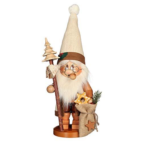 Räuchermännchen Wichtel Weihnachtsmann mit Stab - 39cm - Original Erzgebirge Räuchermann - Christian Ulbricht