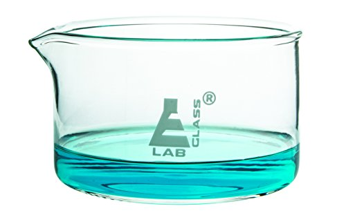 Small Crystallizing Dish with Spout and Heavy Rim - 300ml Capacity, Borosilicate Glass, OD 100mm