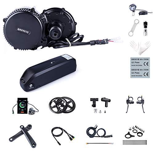 Bafang Elektrofahrrad-Kit Mittelmotor BBS02B 48V 750W Umbausatz Ebike-Komponenten-Kit oder Mittelmotor mit 48V 11.6/17.5Ah/ 52V 14Ah Hailong Batterie/48V 17.5 Ah Gepäckträgerbatterie