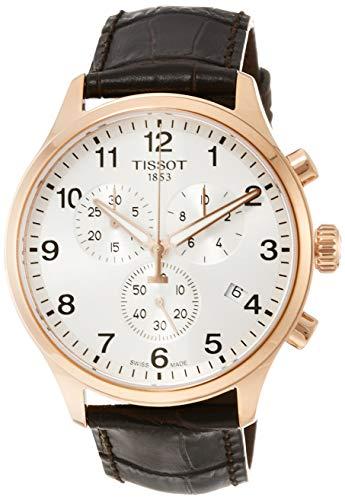 Tissot Herren-Uhren Analog Quarz One Size Leder 87459756