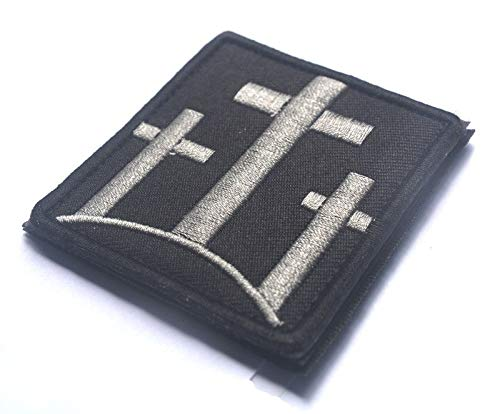 3 Crosses Christian Catholic Tactical Patch Usa Infidel Army Black Ops Swat Patch Jesus Christian Faith Blessed Crucifix Symbol Military Morale Embroidered Patch Badge (3 CROSSES CHRISTIAN_1)